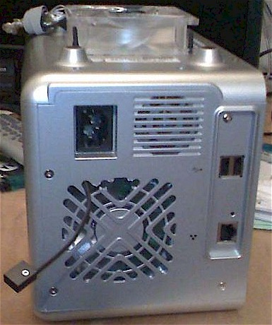 "Reassembled case with external ""power supply"" fan"