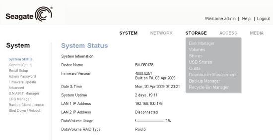 Seagate BlackArmor NAS 440 Reviewed - SmallNetBuilder