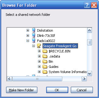 FreeAgent DockStar access via network browsing