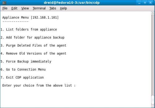CDP Agent command line interface