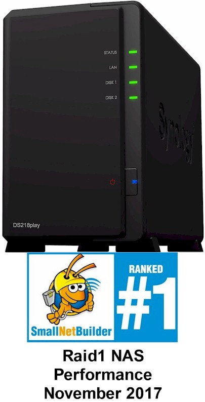 Synology DS218play SNB #1 Ranked Performance Award