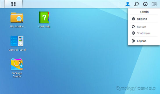 Synology DSM 5.0 Landing Page