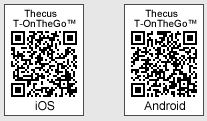 QR Codes for the Thecus T-OnTheGo mobile app