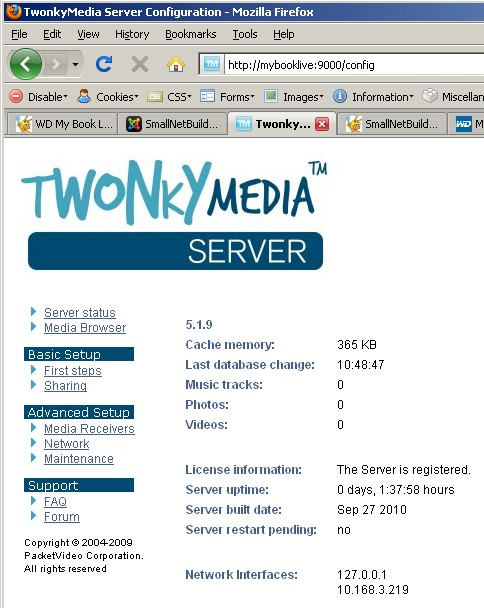 TwonkyMedia server access