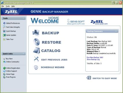 Genie Backup Software