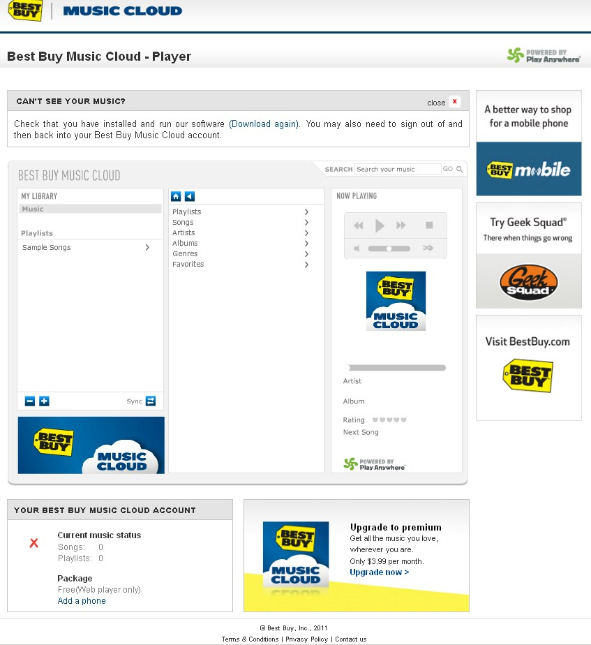 Best Buy Music Cloud Player