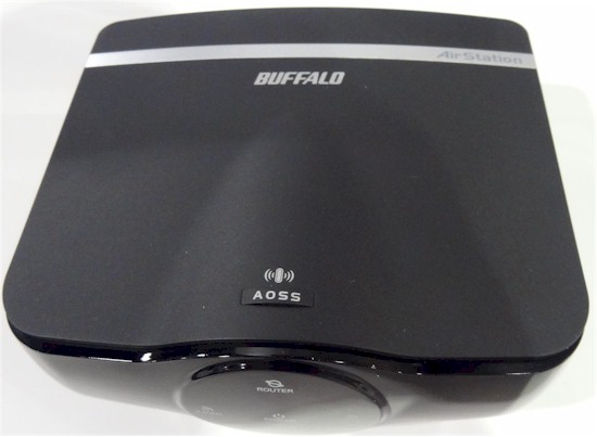 Buffalo AirStation WZR-1750H 802.11ac wireless router - top view