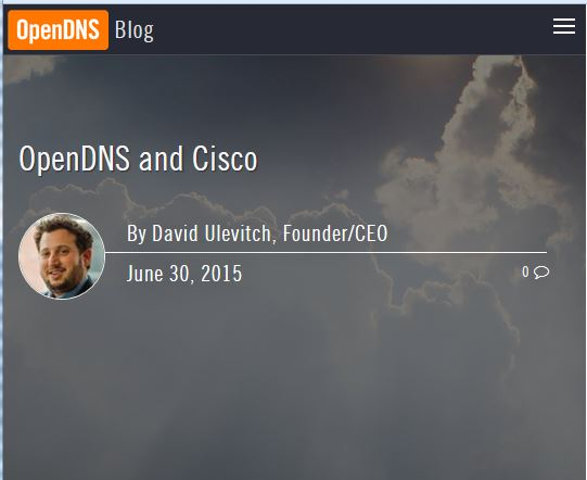 OpenDNS and Cisco