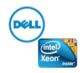 Dell and Intel logos