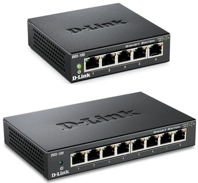 D-Link DGS-105 and DGS-108