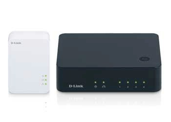 D-Link DHP-541 PowerLine AV 500 Gigabit Switch Kit