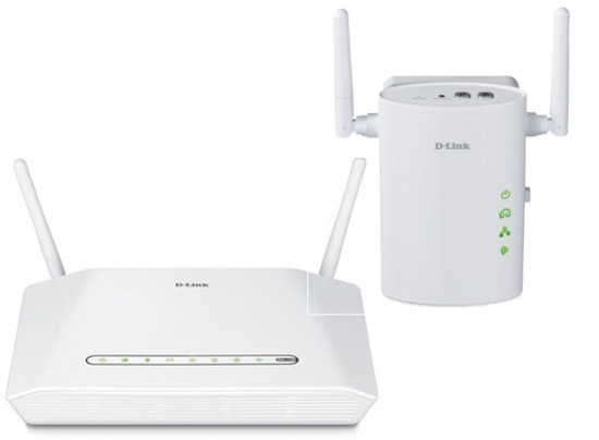 D-Link Wireless N Powerline Router and Powerline Wireless N Extender