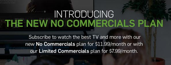 Hulu commercial free plan
