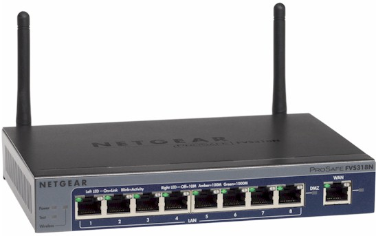 NETGEAR FVS318N ProSafe Wireless-N 8-port Gigabit VPN Firewall