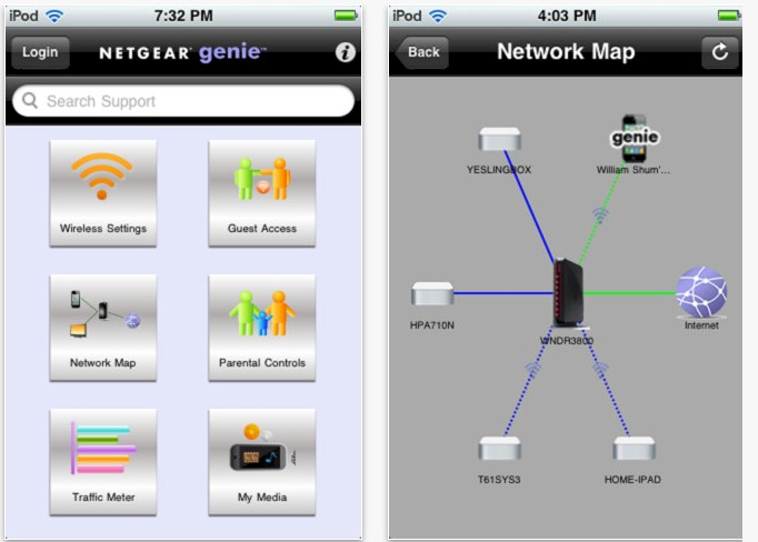 NETGEAR Genie app - iPhone version