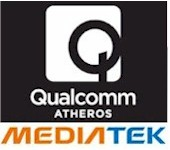 Qualcomm Atheros and MediaTek logos