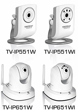 New TRENDnet IP cameras