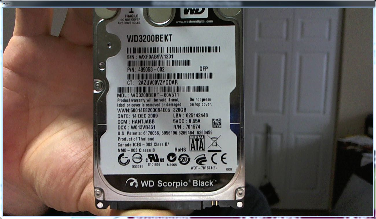 Harddrive in Hand, HD-Style