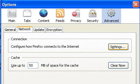 Firefox Network Settings