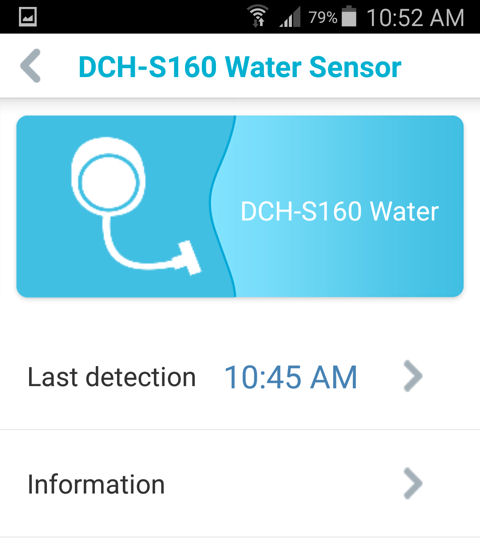 D-Link DCH-S160 Landing Page (Android)