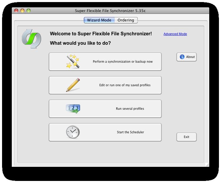 super flexible file synchroniser