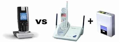 Cordless SIP Phone vs Traditional Cordless + ATA