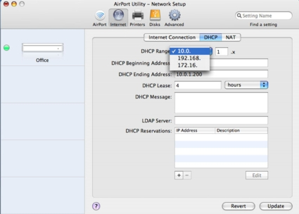 DHCP config