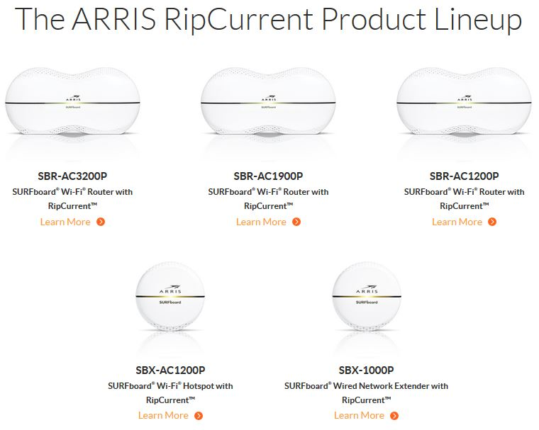 Arris SBR-AC1900P SURFboard Wi-Fi Router with RipCurrent G hn