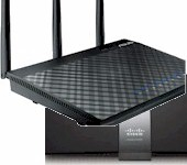 ASUS RT-N66U and Linksys EA4200v2