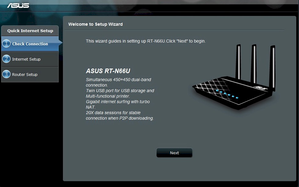 Asus router feature review smallnetbuilder rt n66u setup wizard keyboard keysfo Images