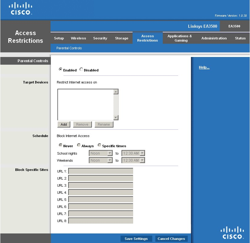 Cisco Linksys EA3500 Dual-Band N750 Router with Gigabit and
