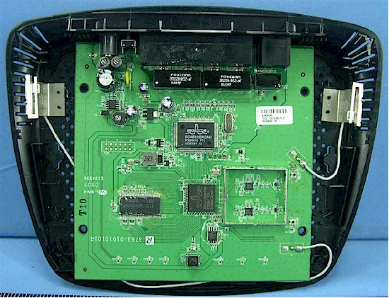 Linksys E1000 board