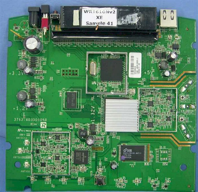 Linksys E3000 (and WRT610 V2) board