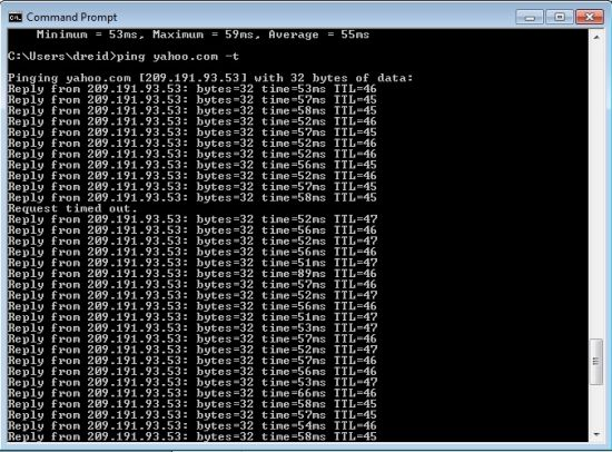 Ping test for WAN failover