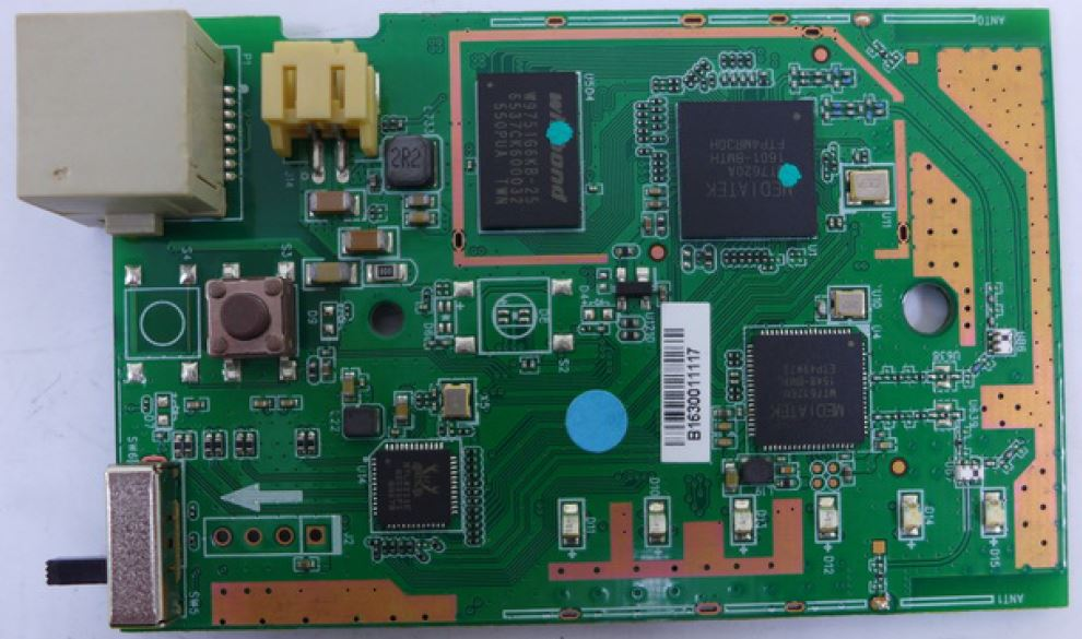 Edimax RE11S board top