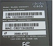 Linksys EA6300 label