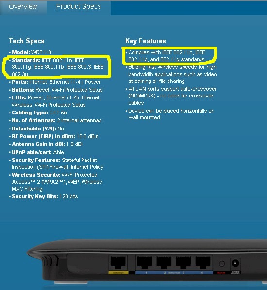 Linksys WRT110 spec
