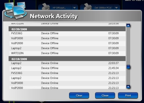 Network Activity report - all devices