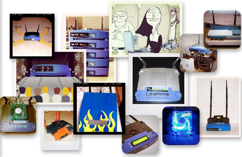 Linksys WRT54G Collage