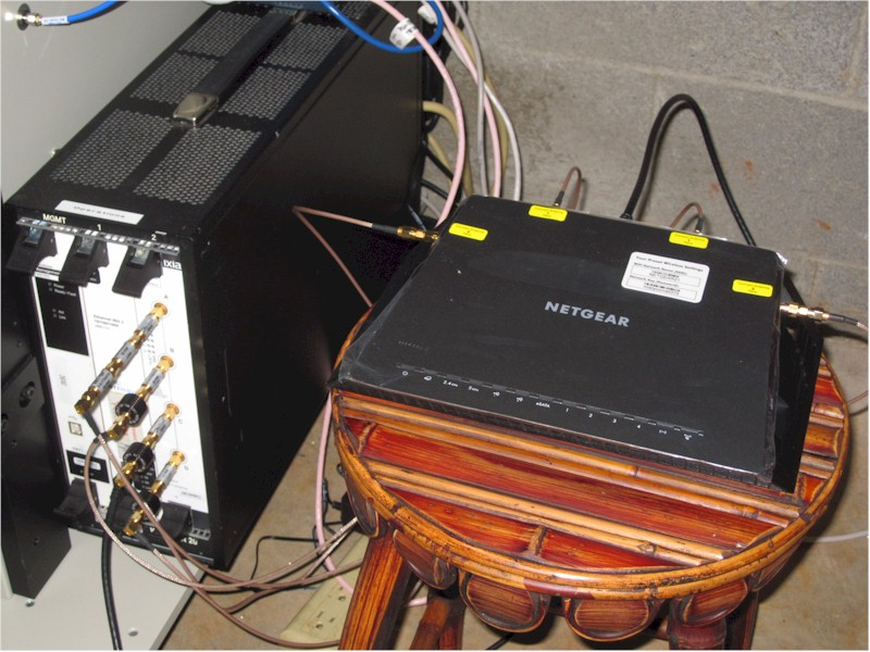 Veriwave chassis and router under test