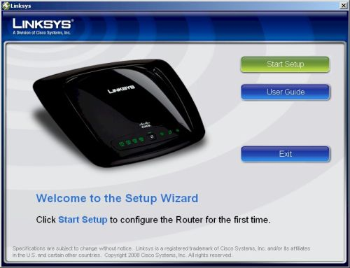WRT54G2 Setup Wizard Splash Screen