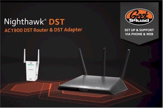 NETGEAR Nighthawk DST AC1900 Router & DST Adapter