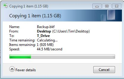 Filecopy to USB 3.0 drive - no other activity