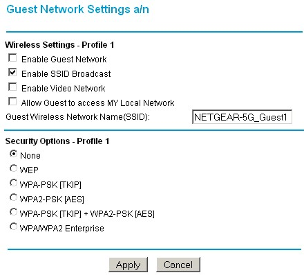 Wireless guest network