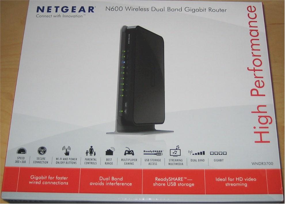 NETGEAR WNDR3700v2 N600 Wireless Dual Band Gigabit Router