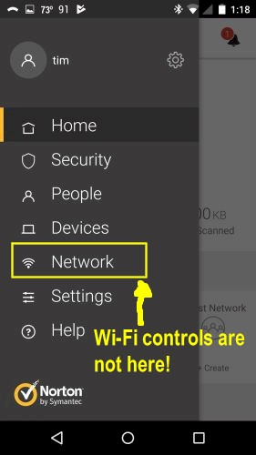 Core Wi-Fi controls are not here