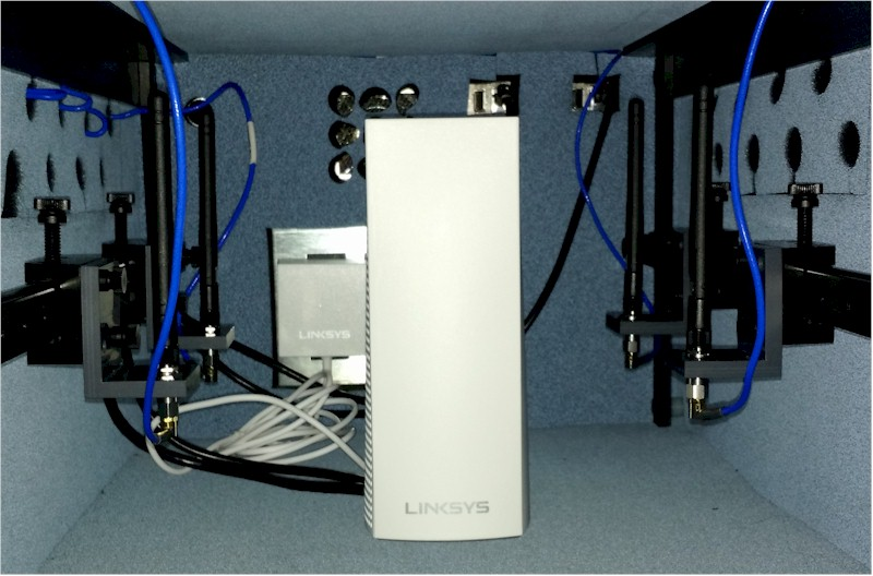 Linksys Velop in test chamber