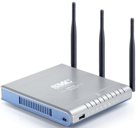 SMCWGBR14-N Barricade N ProMax Draft 11n Wireless 4-port Gigabit Broadband Router