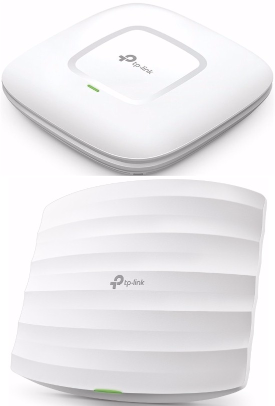 TP-Link EAP-225 v2 (top) and v3 (bottom)