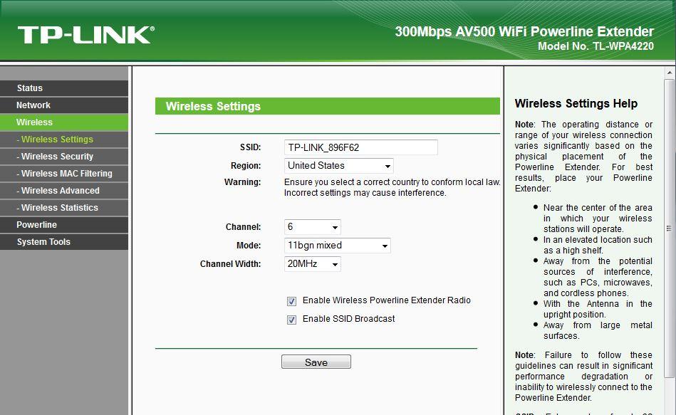 TP-LINK TL-WPA4220KIT 300Mbps Wi-Fi Range Extender, AV500 Powerline